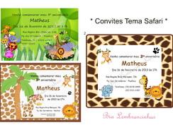 Convites - Tema Safari