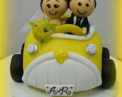 Topo de bolo - Casamento da Arlete