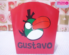 Cachepot Papel Tema Angry Birds
