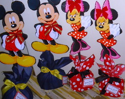 Enfeite de Mesa do Mickey e da Minie