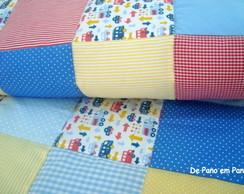 Edredon de ber�o em patchwork