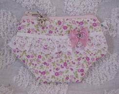 Porta-n�quel Calcinha Floral Mimoso
