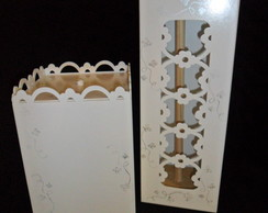 cestinho + porta papel higienico (vendido