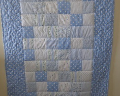 Manta Patchwork Azul para Beb�