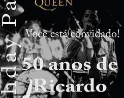 Convite Festa Queen Anos 80