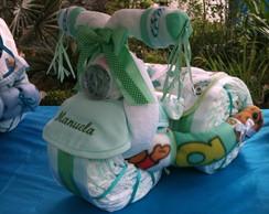 Triciclo de fraldas da Manuela