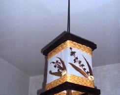 Lustre de teto r�stico de corda