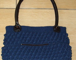 Bolsa de croche com al�as de curvin