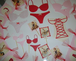 Mini Kit Para Ch� De Lingerie - Pin up