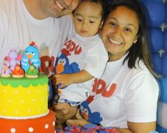 Camiseta Galinha Pintadinha-Fam�lia