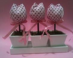 Mini trios de vasinhos com tulipas