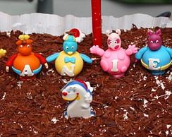Topo de bolo dos backyardigans biscuit.