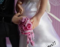 Topo de Bolo Noivinhos-noiva gr�vida