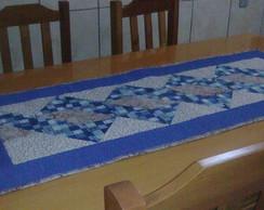 Trilho de mesa Azul e Marrom