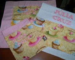 Kit Lanche + Toalhinha Cupcakes