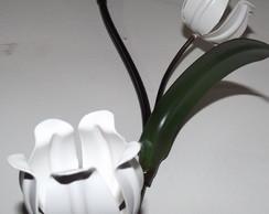 Enfeite De Parede Tulipa Feito Em Ferro