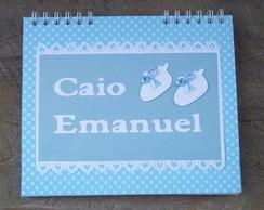 Caderno Lista de Ch� de Fraldas20X24cm +