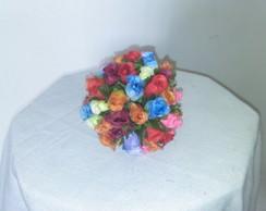 bola de mini rosa colorido