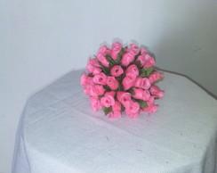Bola de mini rosa na cor rosa