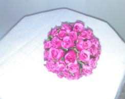 Bola de mini rosa na cor rosa escuro