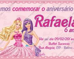 Arte de Convite Barbie Pop Star