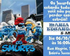 Arte de Convite Smurfs