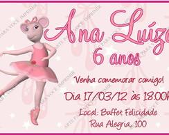 Arte de Convite Angelina Ballerina