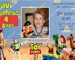 Arte de Convite Toy Story com Foto