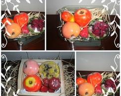Cesta de Frutas de Sabonetes ♥