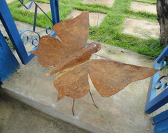 borboleta  de chapa  e ferro GG