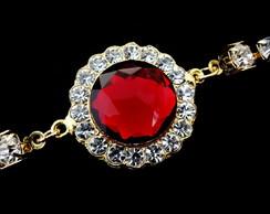 Pulseira Pedra Vermelha