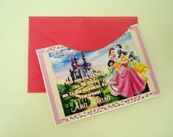 Convite Princesas Disney Personalizado