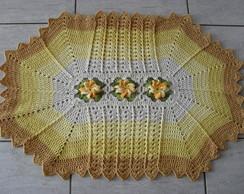Tapete Degrad� Amarelo Flor Catavento