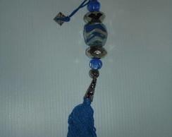 Chaveiro murano azul 1