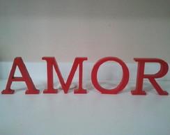 Amor pintado em MDF