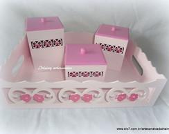 Kit higiene proven�al rosa