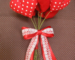 Bouquet De Cora��es Mix Red Po�