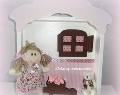 Quadro De Maternidade rosa com marrom