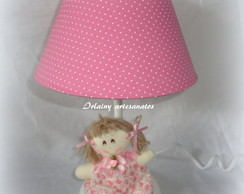 Abajur Boneca de pano rosa