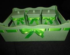Kit Higi�ne Verde Xadrez