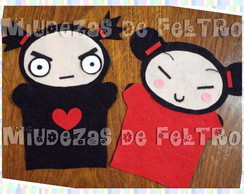 "Kit Fantoches ""Pucca E Garu"""