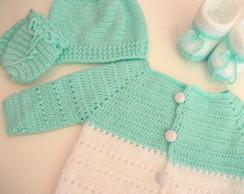 """Sa�da Maternidade 'verde �gua & Branco"""""""