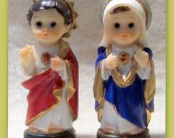 Cora��o de Jesus e Maria 8cms Kids