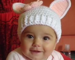 Touca Infantil  Coelhinha Jujuba
