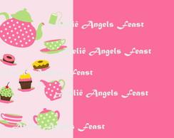 Convite personalizado tema Cupcakes