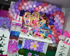 DECORA��O BARBIE ESCOLA DE PRINCESAS