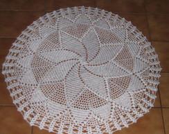 Toalha redonda de croch� cod 109
