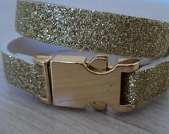 Pulseira Dourada Gliter