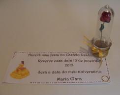 Convite Rosinha No Tubinho Bela e a Fera