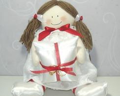 Boneca Daminha - Porta-Alian�a Vermelha